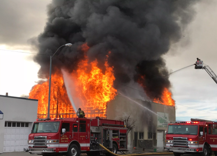 A fire engulfed a business in Butte on Tuesday morning. (MTN News photo)