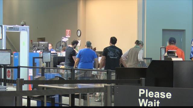 The TSA checkpoint at the Missoula International Airport. (MTN News photo)