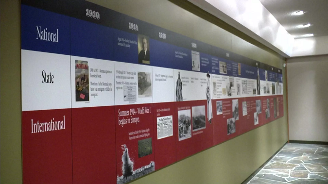 The exhibit takes a look at what was happening on the home front during World War I. (MTN News photo)