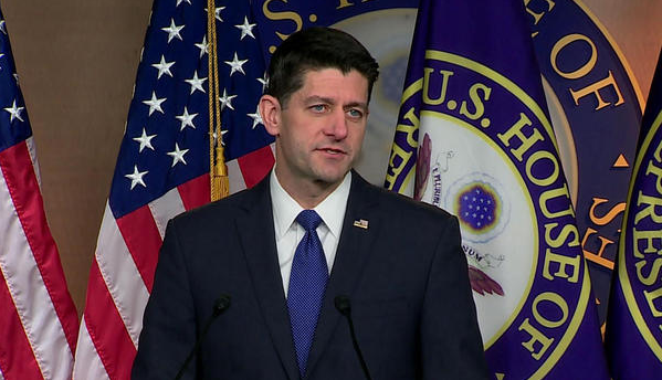 Paul Ryan said the House and Senate had reached a compromise on the tax reform bill. (CBS News)