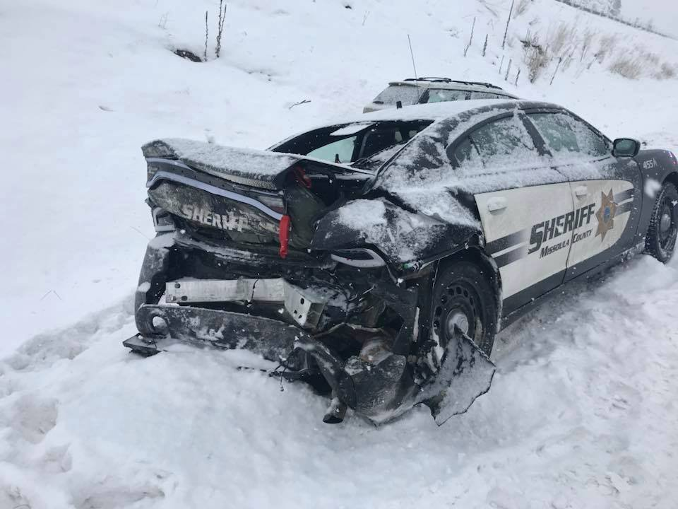 The accident happened at mile marker 136 on I-90 westbound. (Missoula County Sheriff's Office photo)