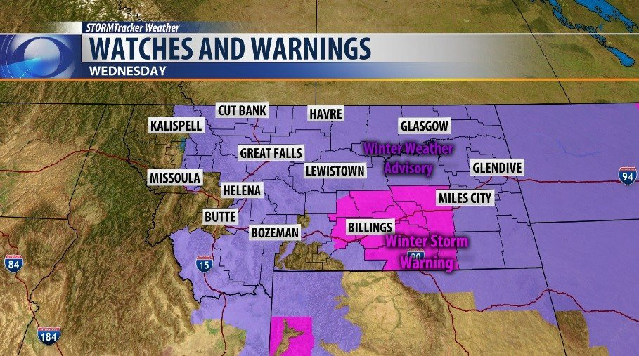 WINTER STORM WARNING Issued for the Broadcast Area