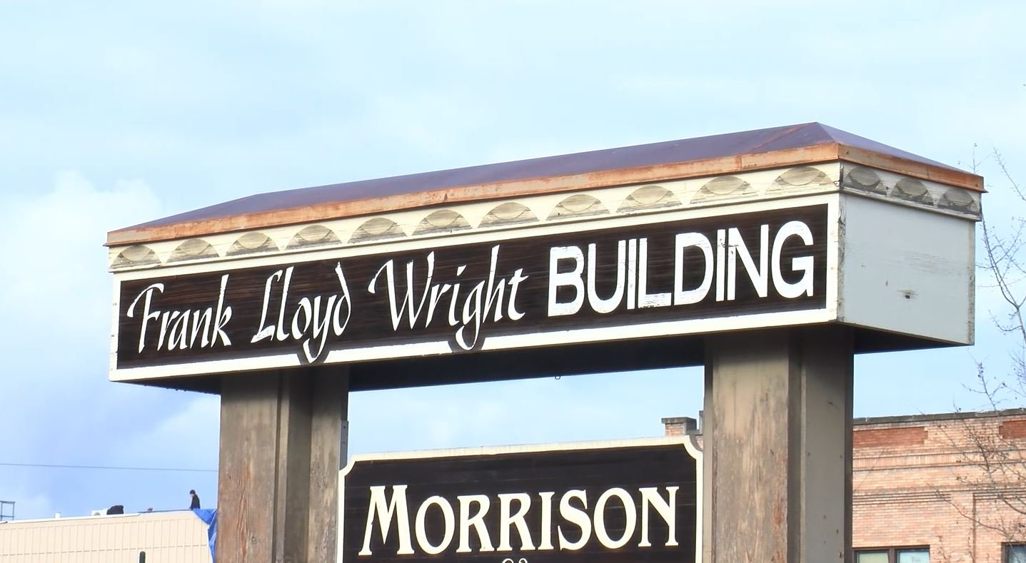The Frank Lloyd Wright Building on Central Street in Whitefish (MTN News photo)