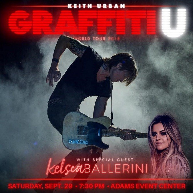 Keith Urban will appear in the Adams Center on Sept. 29 with opening act Kelsea Ballerini. (courtesy photo)
