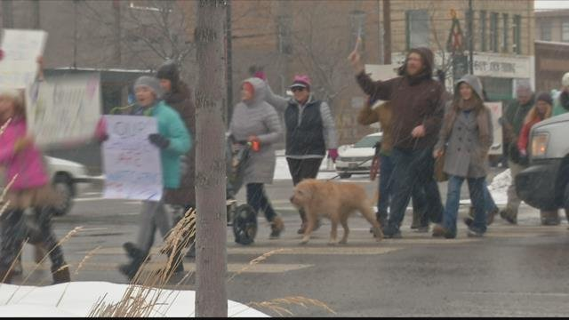The Women's March in Missoula (MTN News file photo)