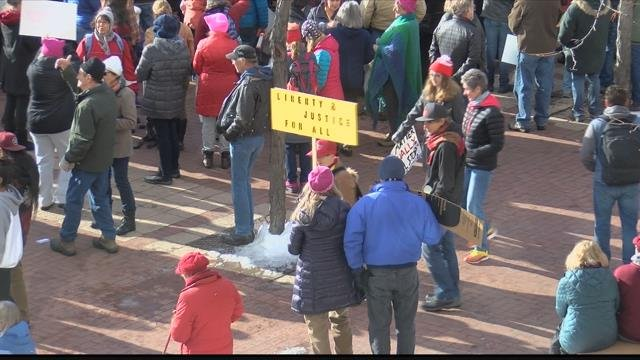 The 2018 Women's March in downtown Missoula. (MTN News photo)