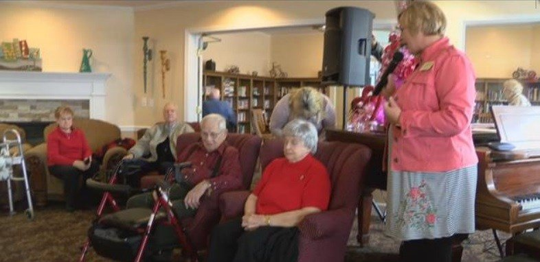 The 14th annual Chocolate Extravaganza at the Butte senior living home also crown residents Pete and Helen Radonich King and Queen. (MTN News photo)