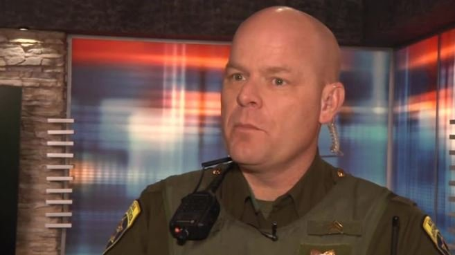 """MHP Sergeant Jay Nelson says the basic things to remember in such a situation are, """"Run, Lock, Fight."""" (MTN News photo)"""