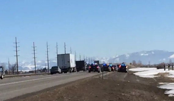 A woman was arrested after a Tuesday chase along I-90. (MTN News photo)