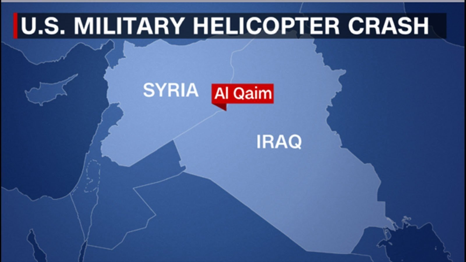 A US military HH-60 Pave Hawk helicopter, a Black Hawk variant, has crashed in western Iraq (CNN image)