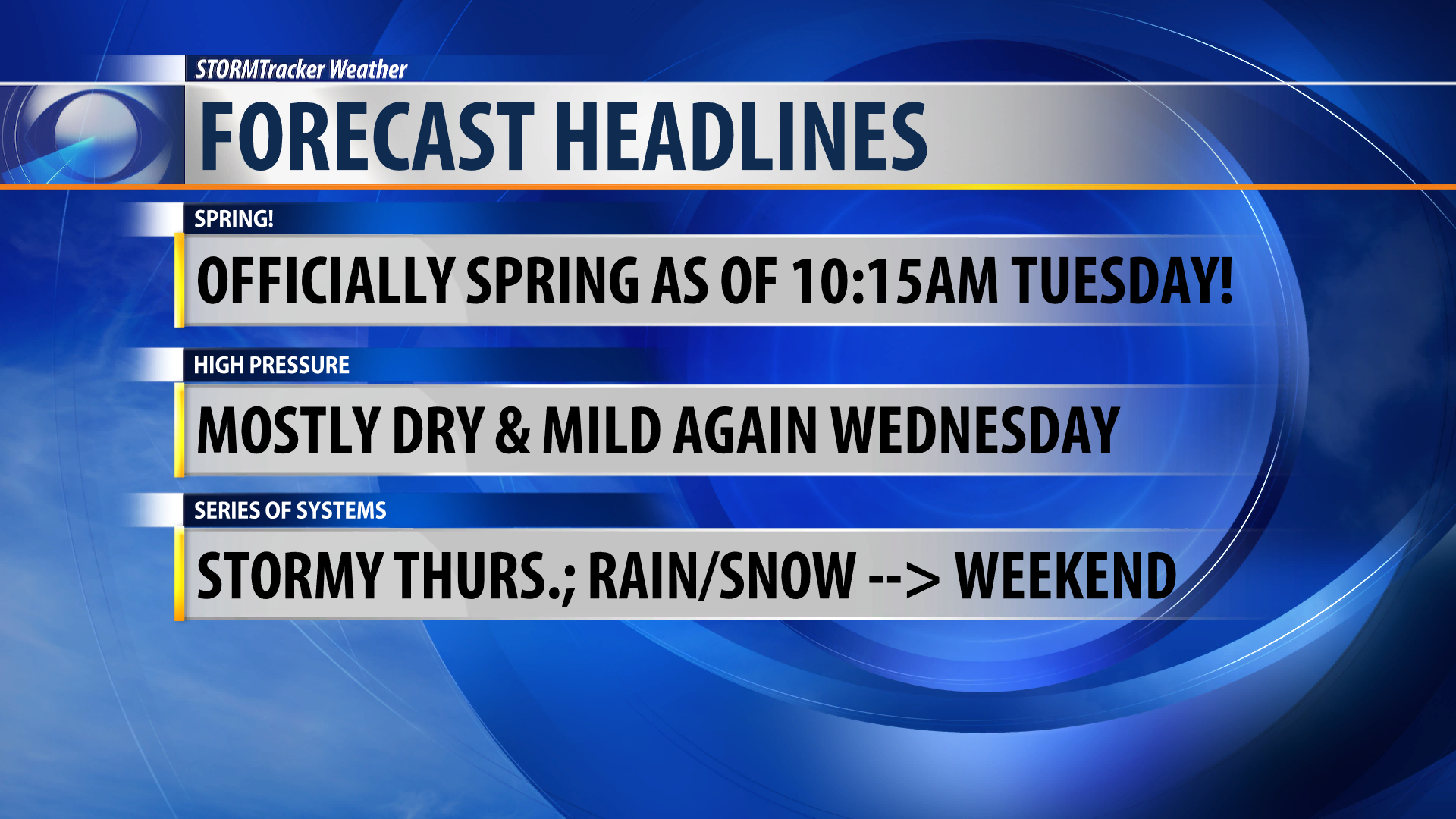 A little wintry weather for the first full day of Spring