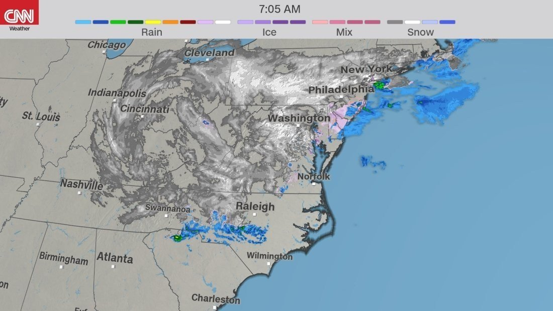 The fourth nor'easter in three weeks will dump heavy snow, winds and even coastal flooding to some areas. (CNN image)