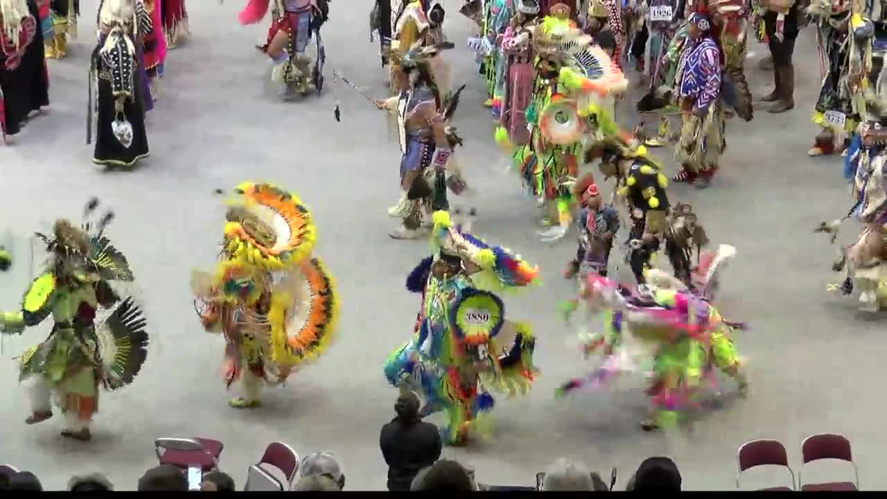 Some of the best Native American dancers and drum groups in North America gathered at the UM for the 50th Annual Kyiyo Celebration.(MTN News photo)