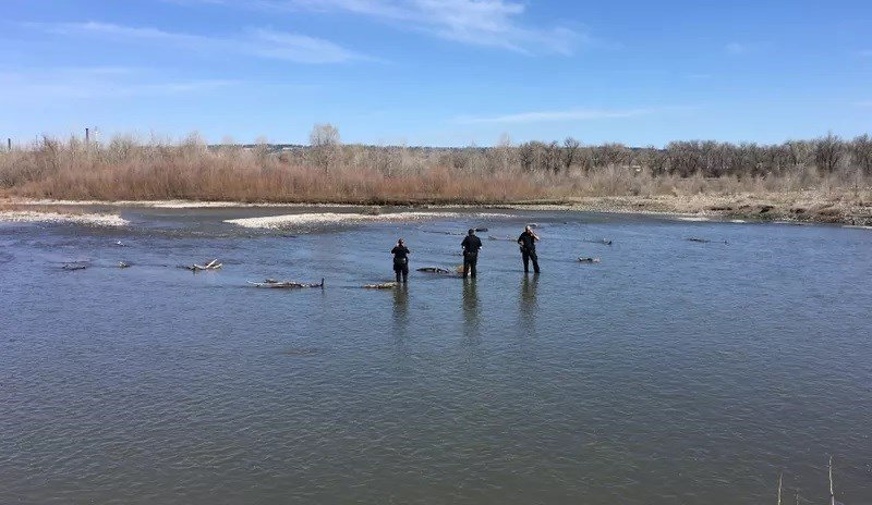 Police responded to Two Moon Park after several reports of a body seen floating in the Yellowstone River Sunday afternoon. (MTN News photo)