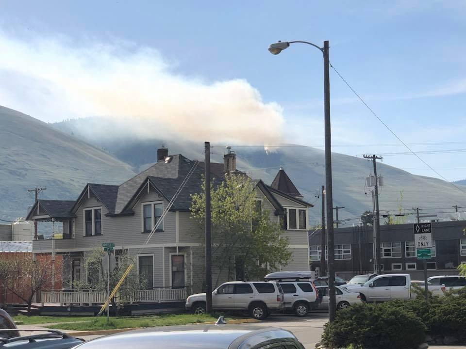MTN News file photo of a prescribed burn on Mount Sentinel. (photo credit: Lisa Savard)
