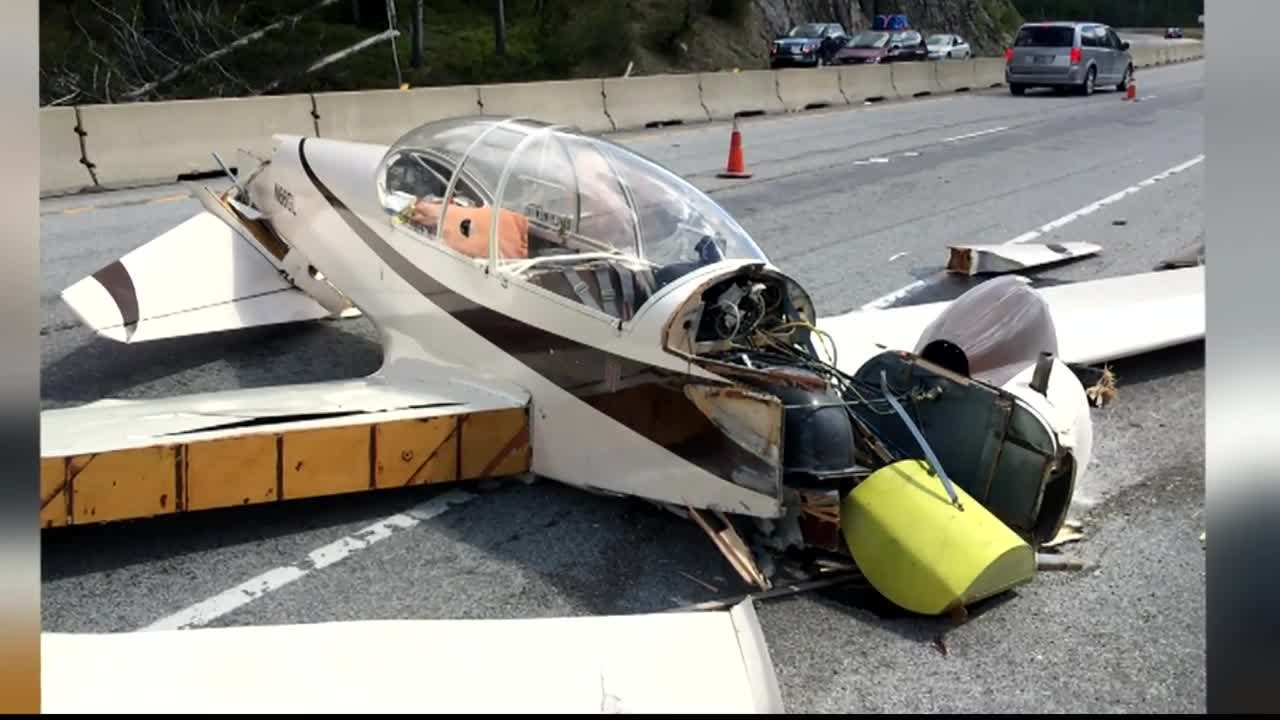 The pilot was able to walkaway after crash landing near Lookout Pass on I-90.