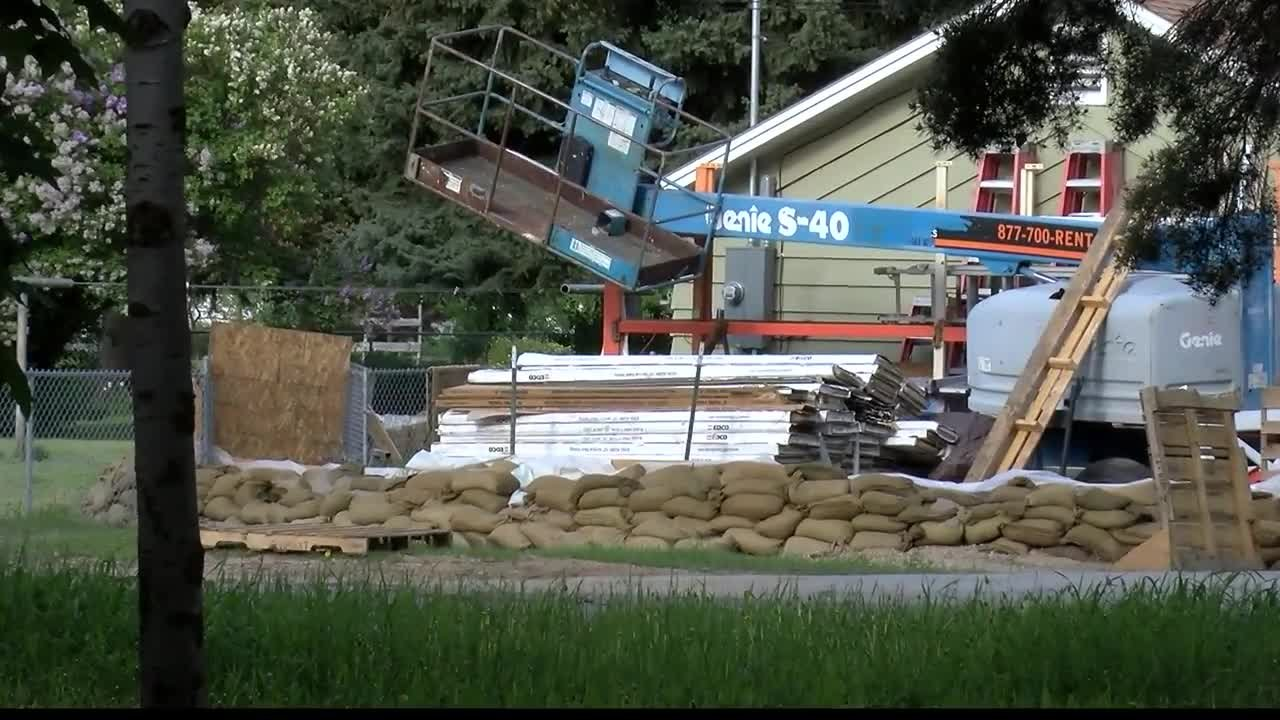 Property damage has been exposed as flood waters have receded in Missoula. (MTN News photo)