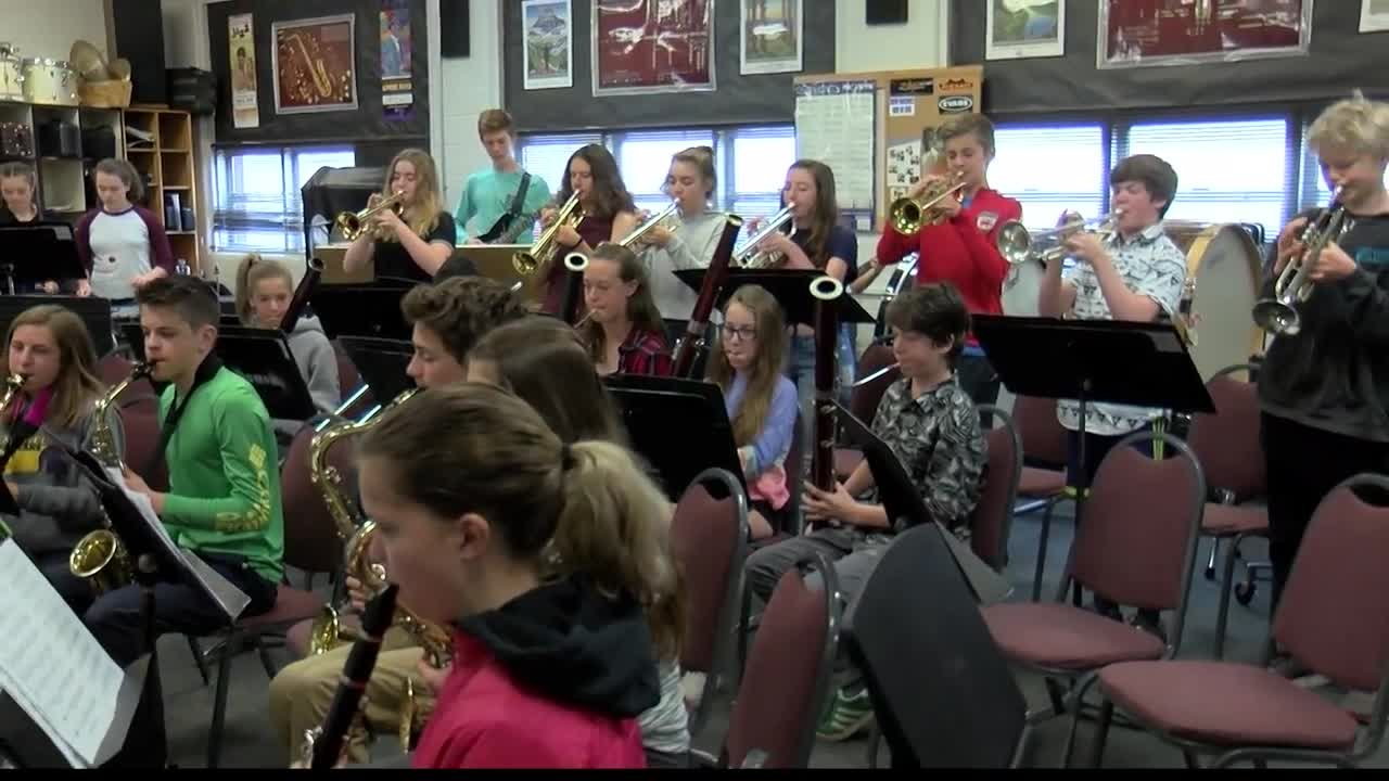 The Washington Middle School Jazz Ensemble is made up of seventh and eighth grade students.(MTN News photo)