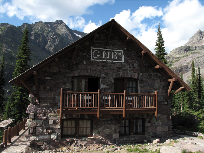 Great Northern Railway photo of the Sperry Chalet (NPS photo)
