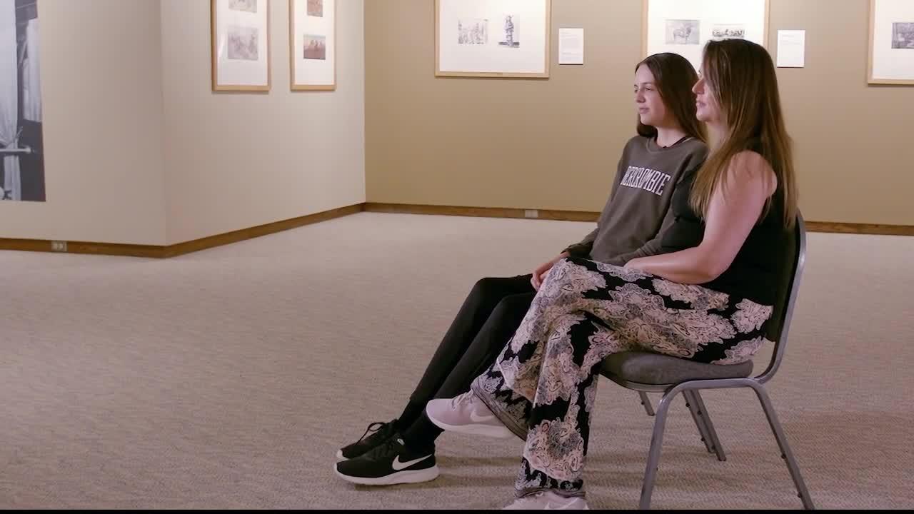 Mollie Oswalt of Havre shares her experience at the Shriner's Hospital for Children in Spokane. (MTN News photo)