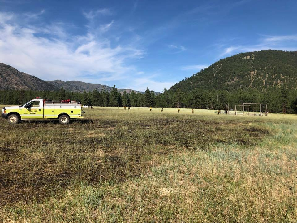 The blaze near Fish Creek was held at 6 acres burned. (The Frenchtown Rural Fire District photo)