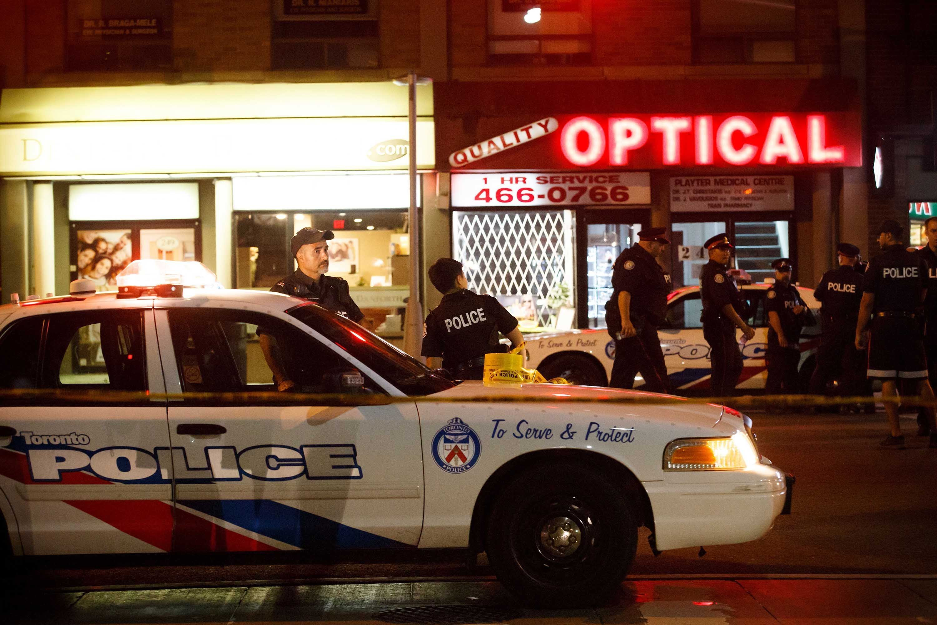 Three people were killed -- including the gunman -- in a shooting in Toronto on Sunday night. (Source: Cole Burston/Getty Images)