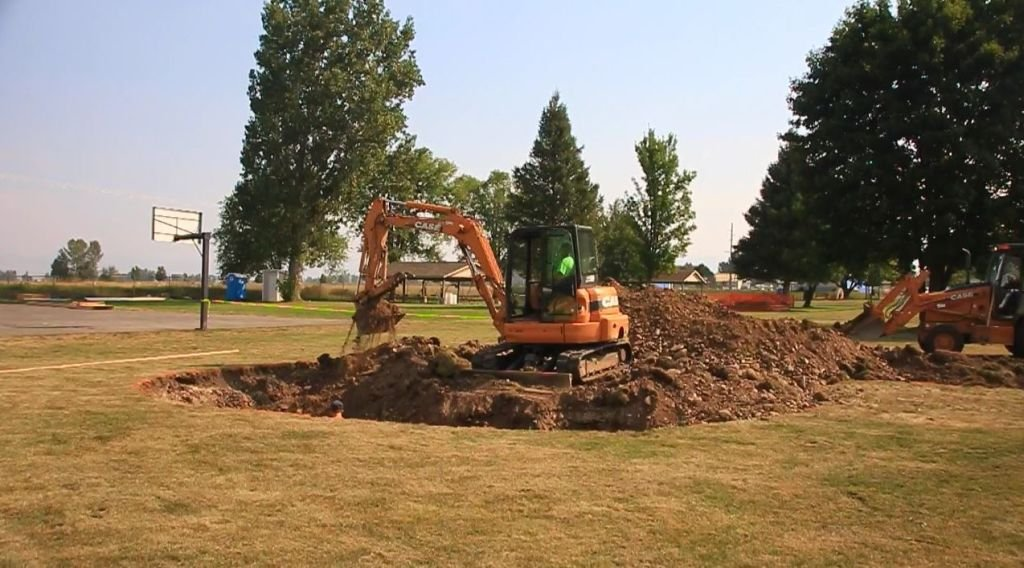 The new park is being constructed in the northwest corner of Lewis and Clark Park.(MTN News photo)