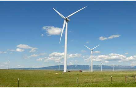 Judith Gap wind farm (photo credit: Montana Film Office)