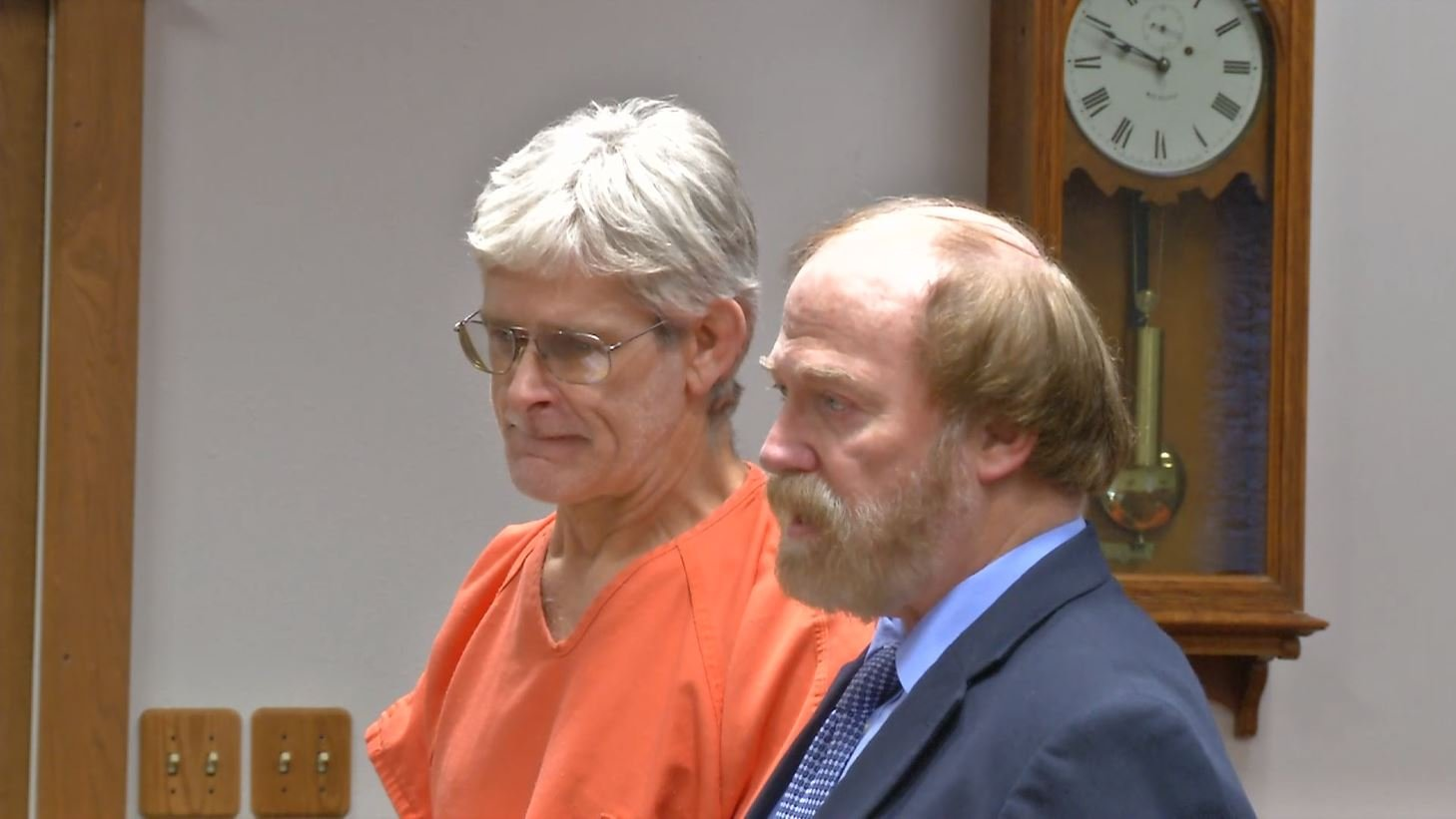 David Wayne Nelson, left, appearing in Ravalli County District Court (MTN News photo)