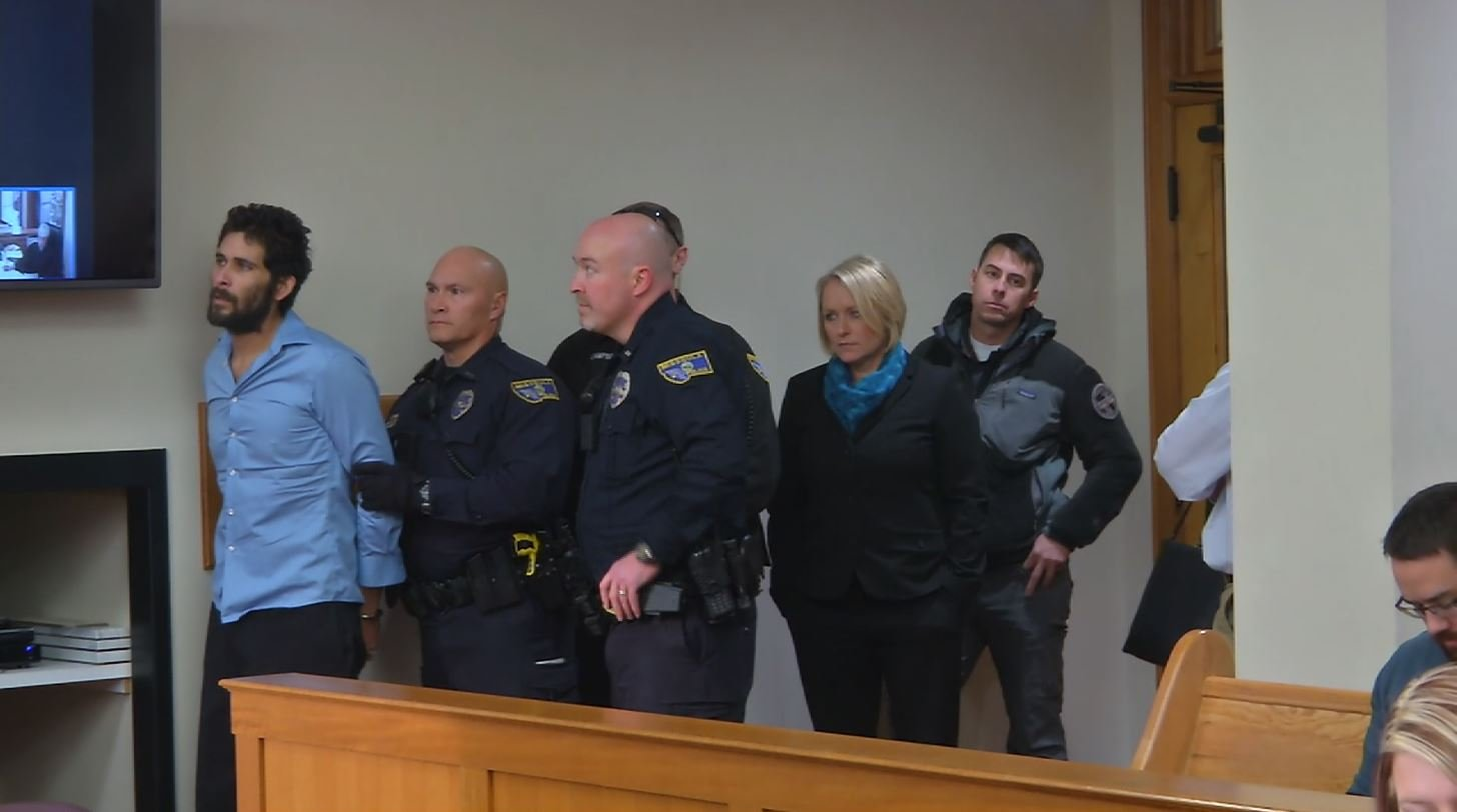 30-year-old Emmanuel Gomez (far left) appeared in Missoula County Justice Court on Monday. (MTN News photo)