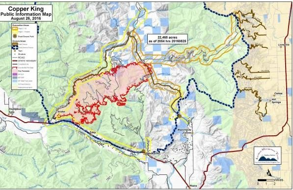 Evacuations remain in place as crews battle Copper King fire