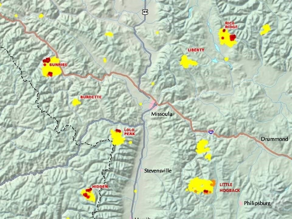 Western Montana Air Quality Continues To Nose Dive KPAXcom - Map of western montana