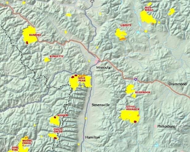 Air Quality Knocked Back In Western Montana KPAXcom - Map of western montana