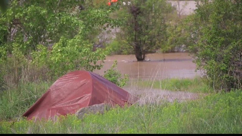 A segment of Missoula's homeless population has been displaced by rising  flood waters. (MTN