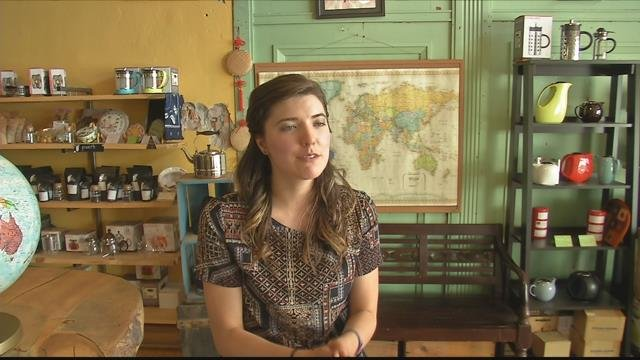 Lake Missoula Tea Company Botanical Lead Christina Bovinette. (MTN News photo)