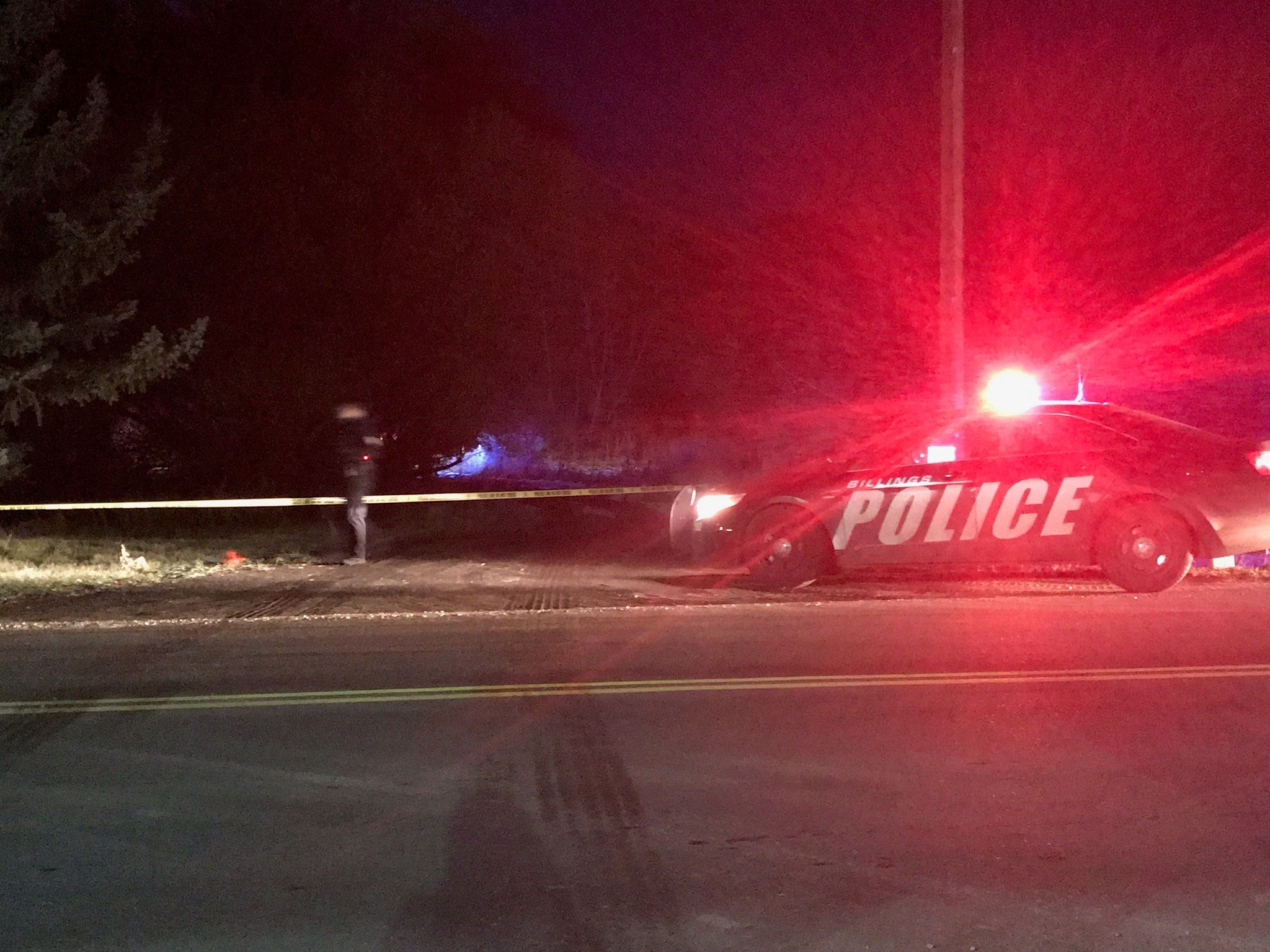 Police closed off a road off of South 32nd Street Wednesdya evening. (Samantha Harrelson/ Q2 News photo)