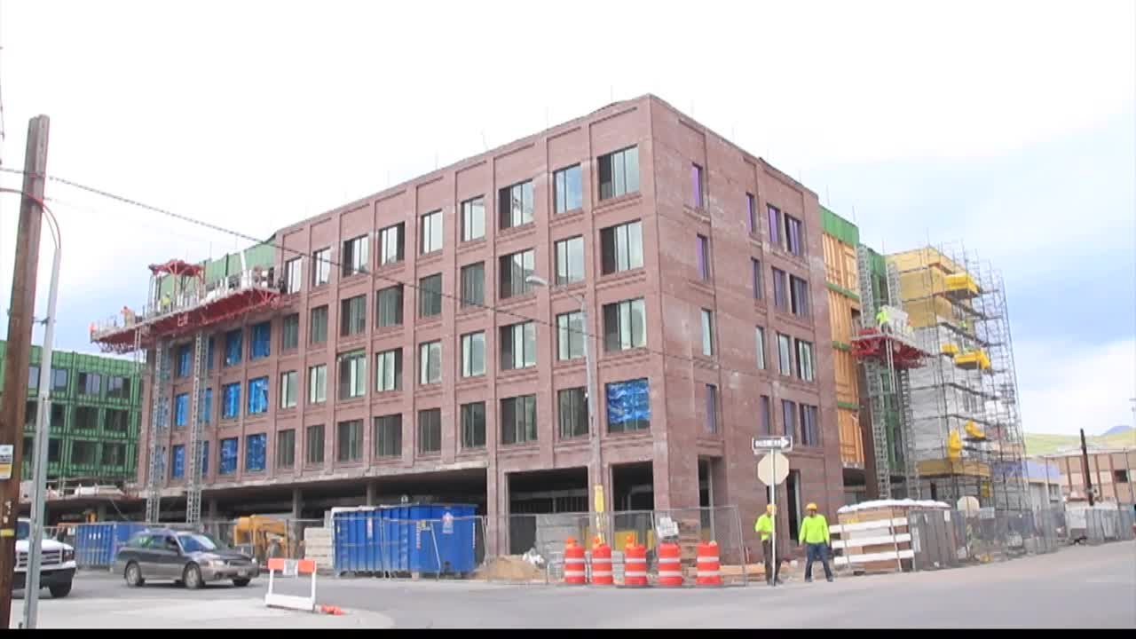 The new Marriott hotel being built in downtown Missoula. (MTN News photo)