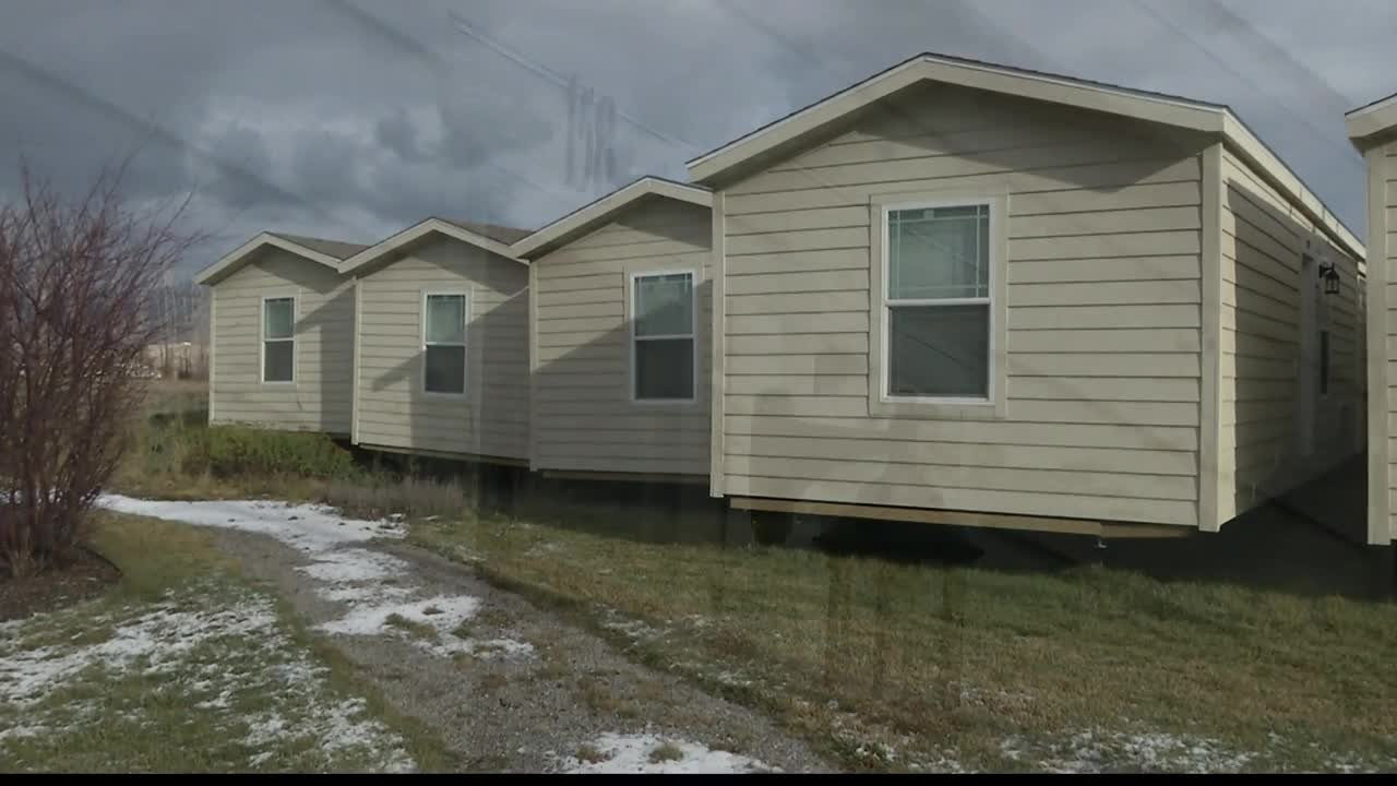 """Homeword purchased the 10 """"tiny homes"""" when they weren't needed as housing for the Bakken oil fields. (MTN News photo)"""