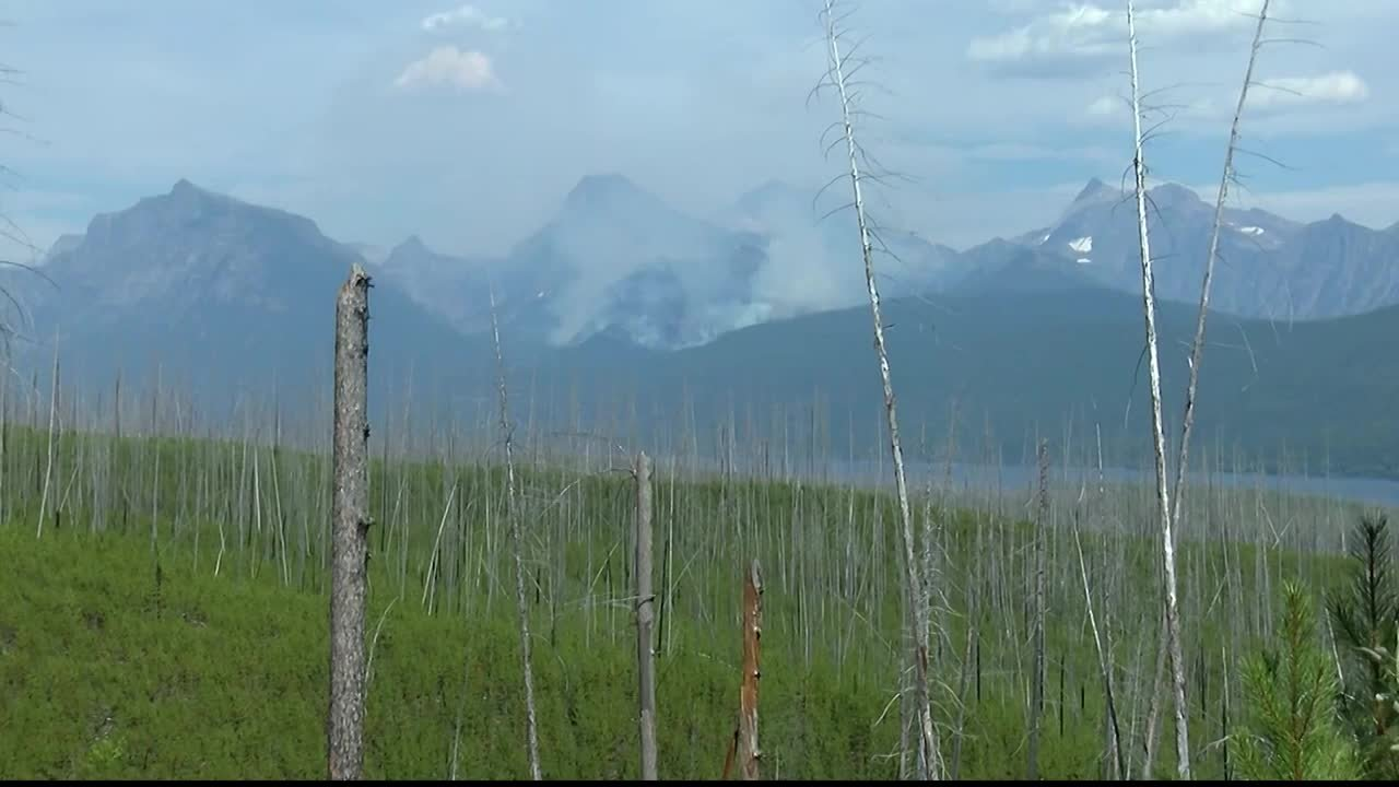 The Sprague fire sparked to life in Glacier National Park on 8.10.17. (MTN News file photo)