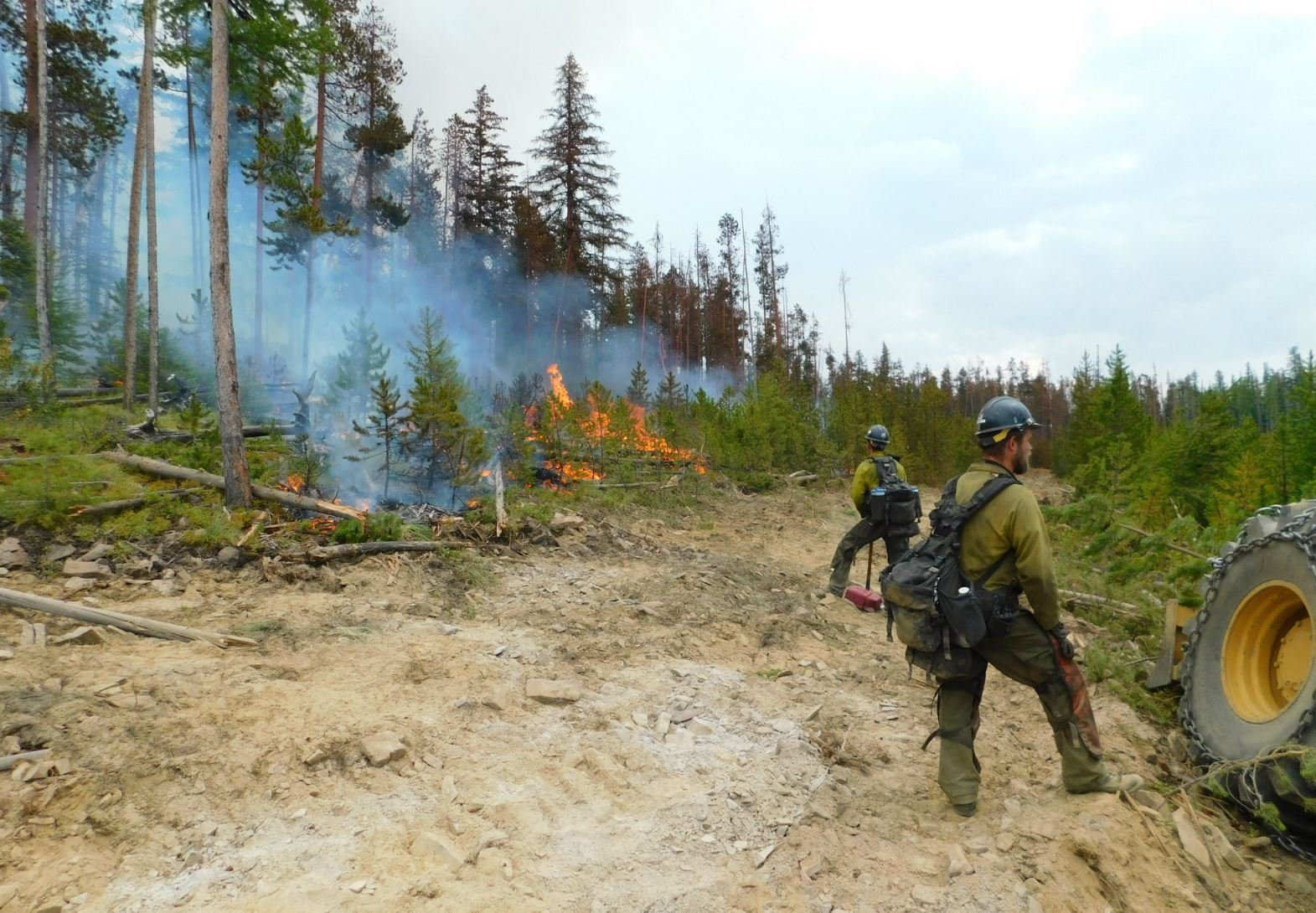 The Garden Creek fire outside of Hot Springs (Confederated Salish& Kootenai Division of Fire photo)