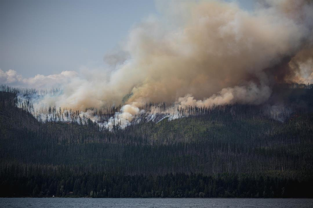 The Howe Ridge fire burning in Glacier National Park (inciweb.org photo)