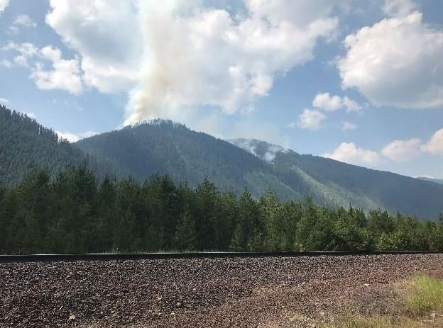 Flathead County Sheriff Curry has issued an evacuation warning for a small number of residents near Essex. (inciweb.org photo)