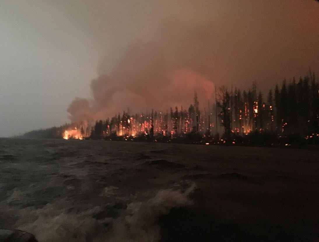 The Howe Ridge fire is burning in Glacier National Park near Lake McDonald.  (inciweb.org photo)i