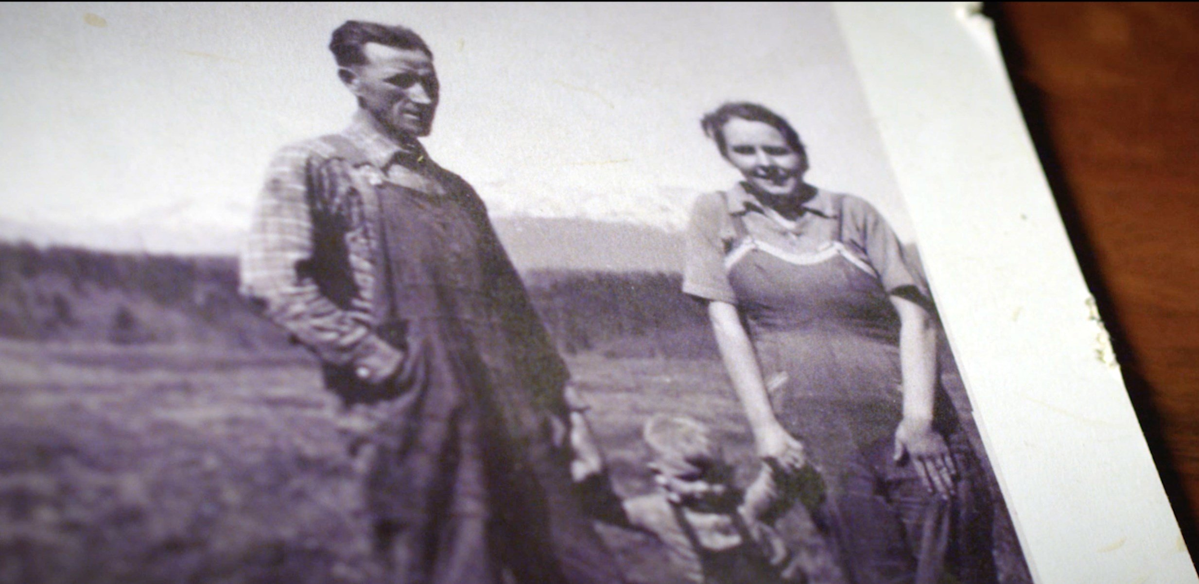 Dean Folkvord's Grandparents on their dairy farm outside Helena, MT.