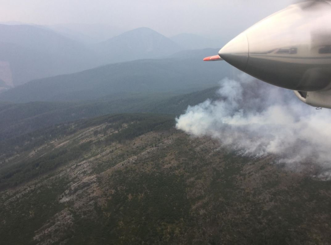 The Gold Hill fire burning on the Kootenai National Forest. (inciweb.org photo)