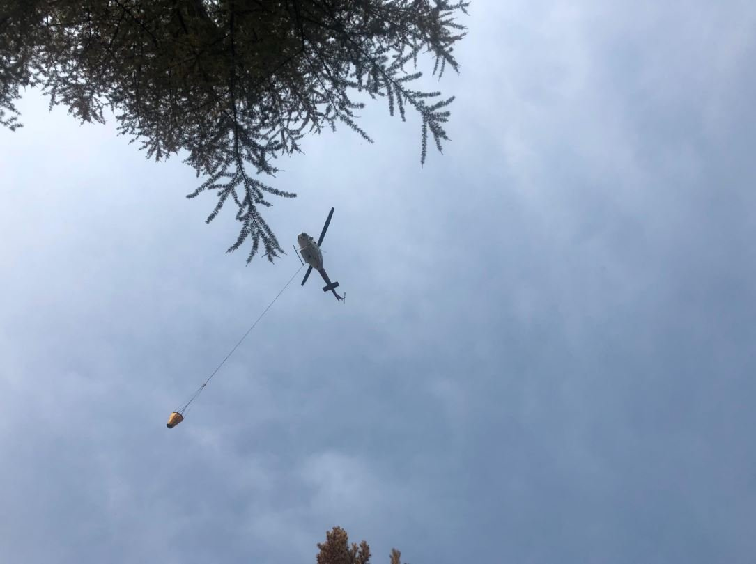 The Davis fire burning in the Yaak (KootenaiNational Forest photo)