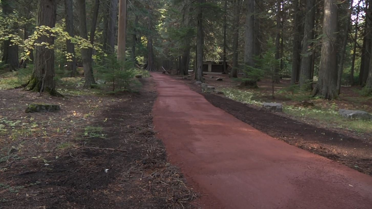 Not only is a new, smoother and more level trail path being built, but it will make the trail more handicapped accessible. (MTN News photo)