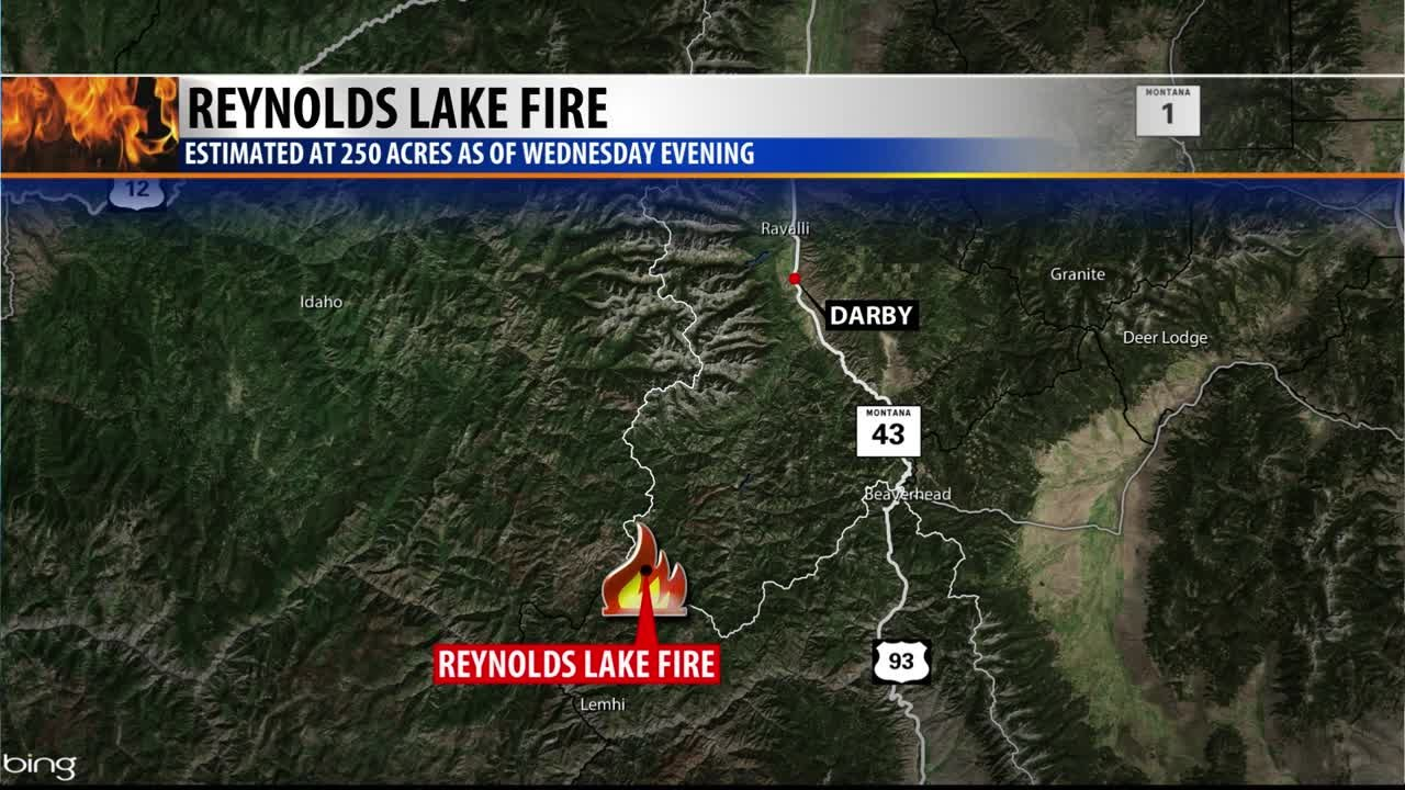 Reynolds Lake Fire Map