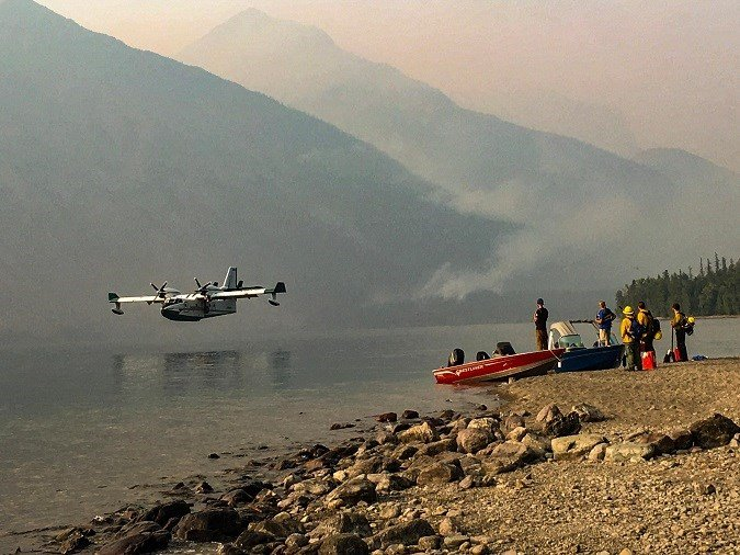 The Howe Ridge fire is burning in Glacier National Park near Lake McDonald. (inciweb.org photo)